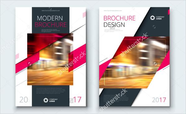 modern business report brochure template