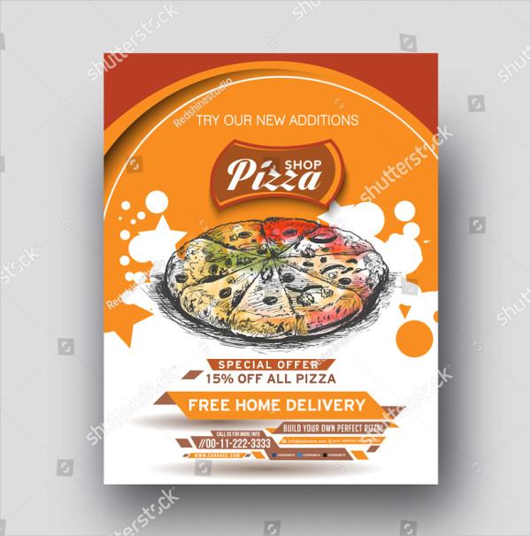 Pizza Shop Template Vector