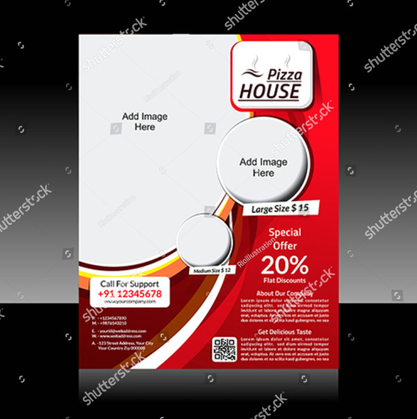 Pizza Store Flyers Vector Illustration
