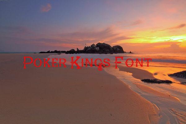 Poker Kings Western Fonts Free