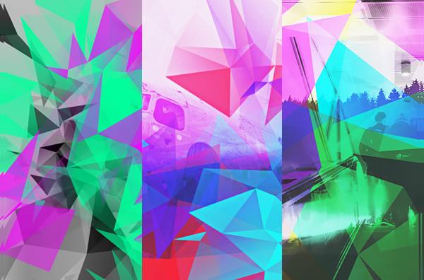 Polygonal Photoshop Brushes Bundle