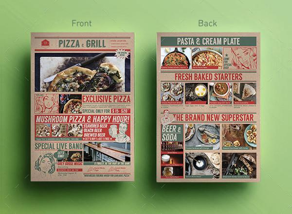 Pop Art Pizza Cafe Flyers Template