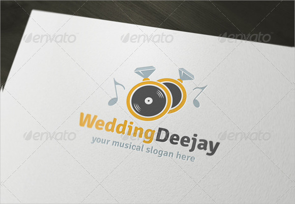 Popular Wedding Deejay Logo Template