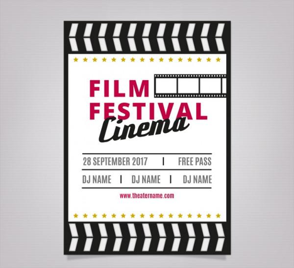 Poster Film Festival in Retro Design Free