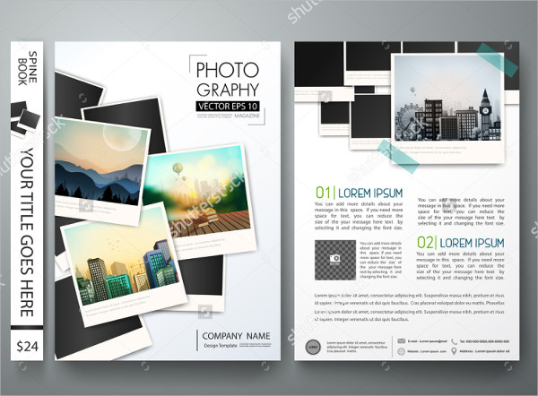 Photography Report Vector Flyer Template