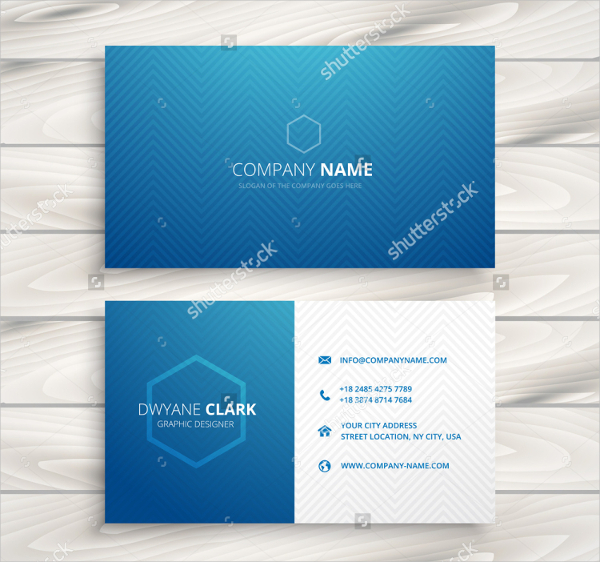 Clean & Simple Blue Visiting Cards