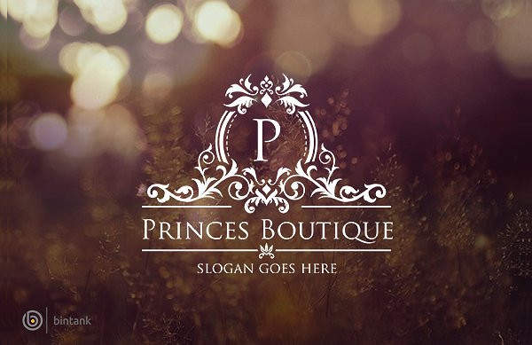 Princess Boutique Wedding Logo Template