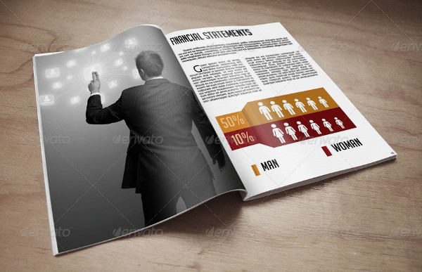 Print Ready Business Annual Report Template