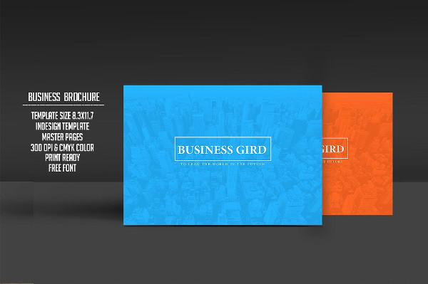 Print Ready Business Plan Brochure Template