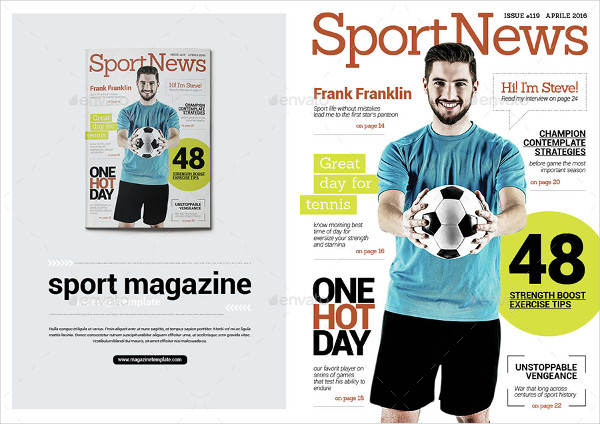 Print Ready Sports News Magazine Template