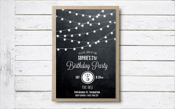 Printable Birthday Invitation Card Template
