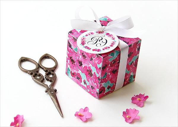 Printable Template Favor Box for Wedding