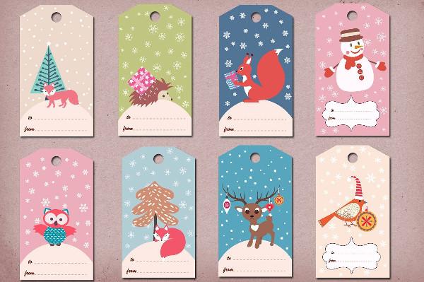 Printable Winter & Christmas Gift Tags