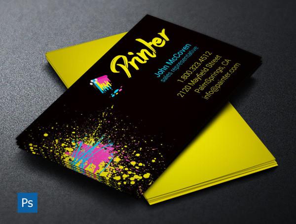 Printer Business Card PSD Template