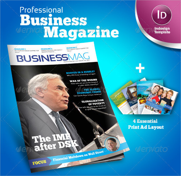 23 business magazine templates free premium download professional business indesign magazine template accmission Image collections