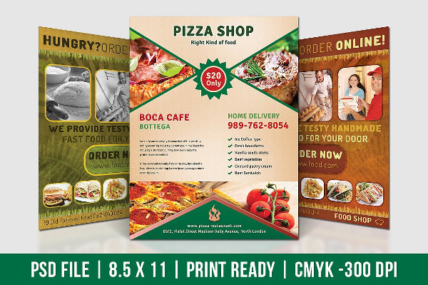 Professional Pizza Shop Flyers