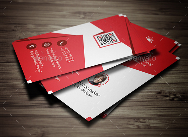 Flat Visiting Cards Photoshop
