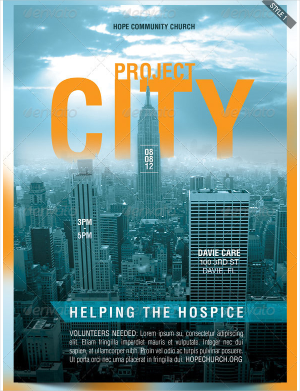 Project City Church Charity Flyer Template