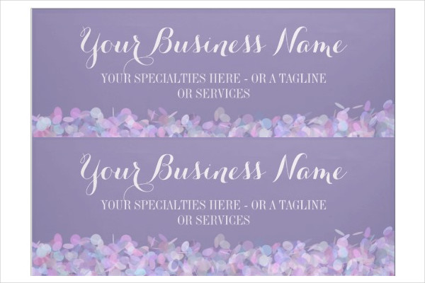 Purple Confetti Business Banner Template
