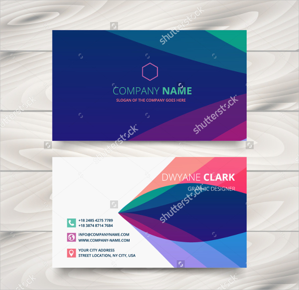 Purple Stylish Visiting Cards Template
