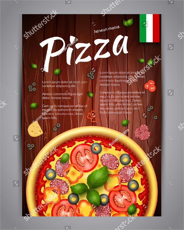 Realistic Pizzeria Flyer Vector