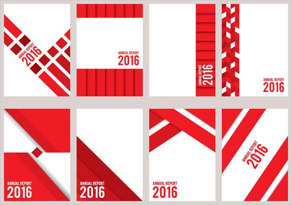 Red Annual Report Design Free