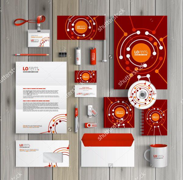 Red Corporate Branding Identity Design