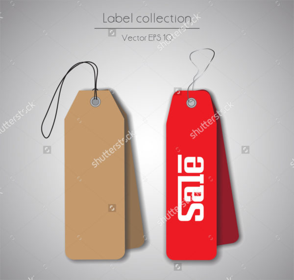 Red Hanging Tag Templates Collection