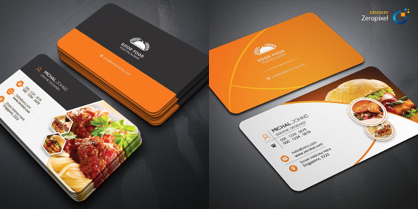 25 restaurant business card templates free premium download
