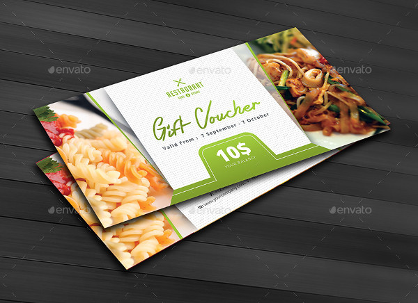 Restaurant Business Gift Voucher Template