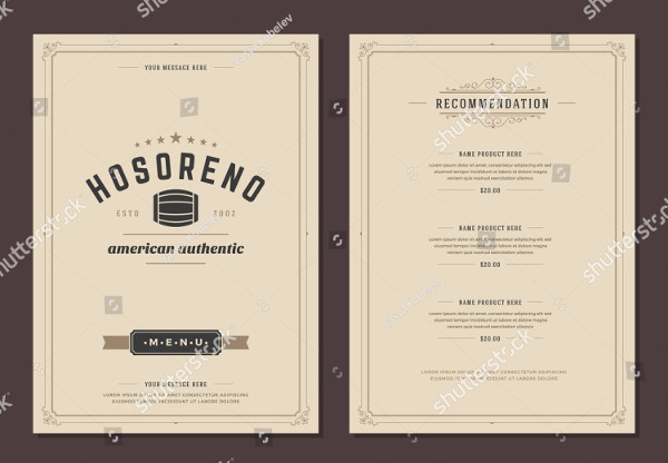 Restaurant Logo and Menu Design Vector