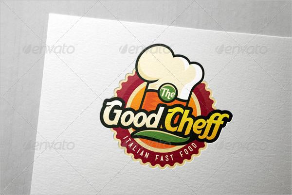 Unique Logo Template for Fast Food & Chef Company