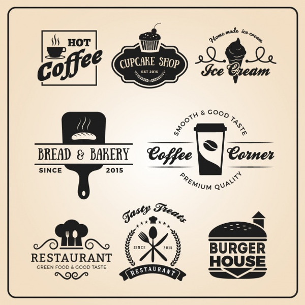 Restaurant Logos Collection Free Vector