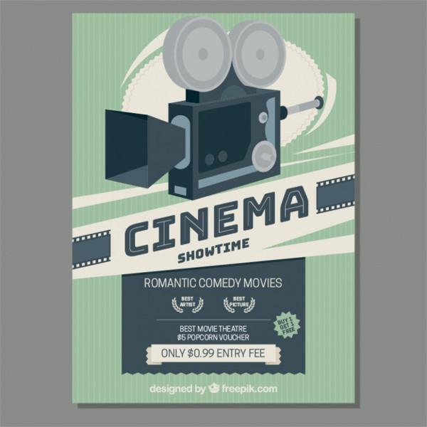 Retro Movie Camera Poster Free