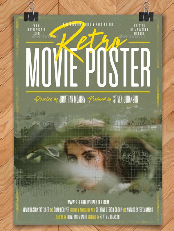 Retro Movie Poster Template