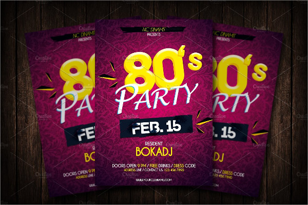 Retro Disco Party Flyer Design