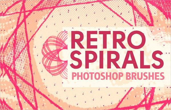 Retro Spirals Photoshop Brushes