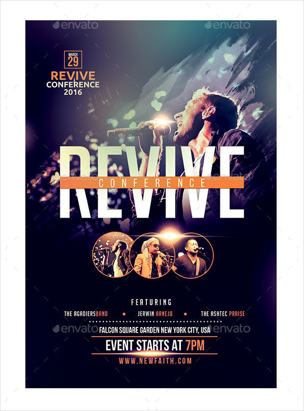 Revive Conference Flyer Template for Church