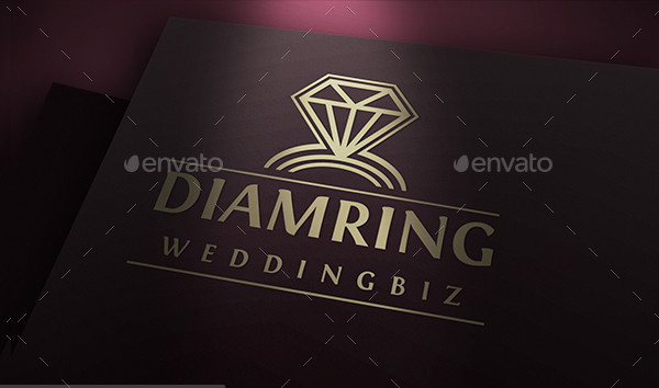 Wedding Ring Logo Template