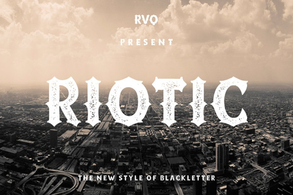 Riotic Typeface Tattoo Font