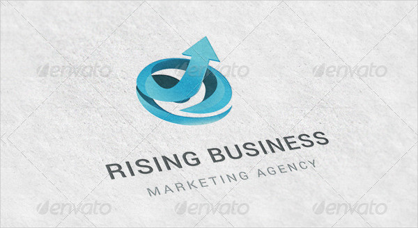 Rising Business Logo Template