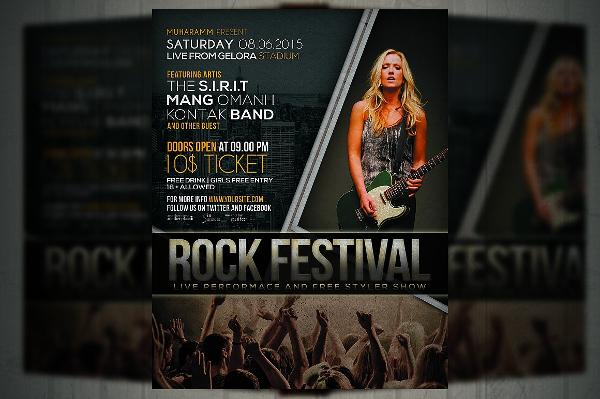 Rock Music Festival Flyer Template