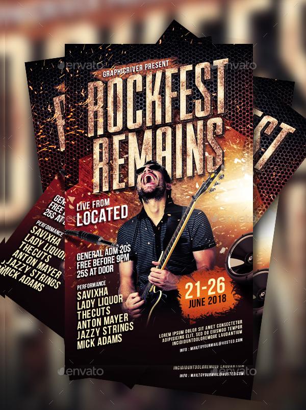 Rock Music Fest Flyer Template
