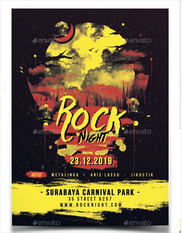Rock Night Music Flyer Template
