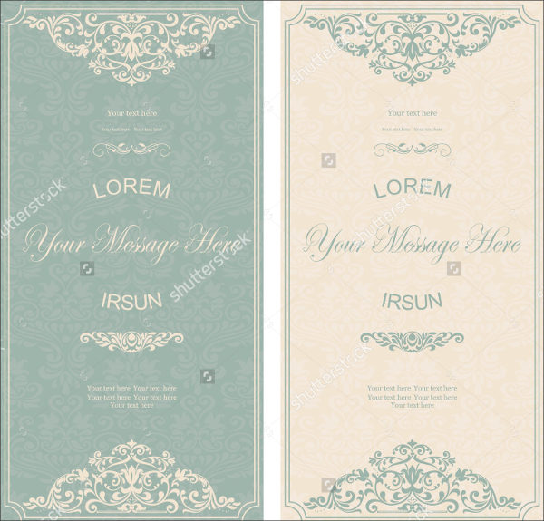 Set of Wedding Greeting Card Templates