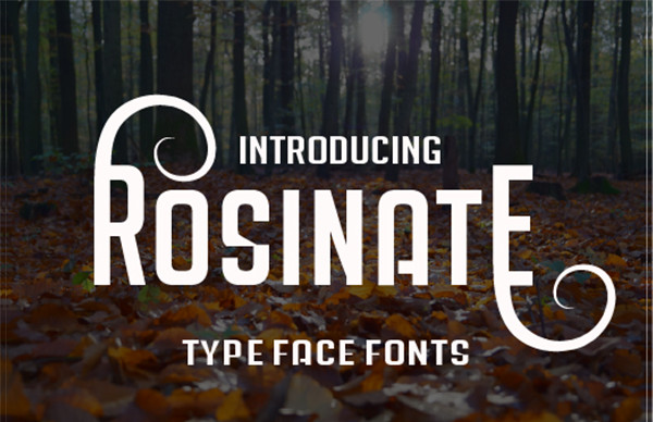Rosinate Western Style Font