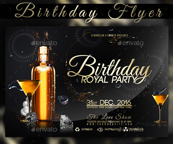 Royal Birthday Party Flyer Template