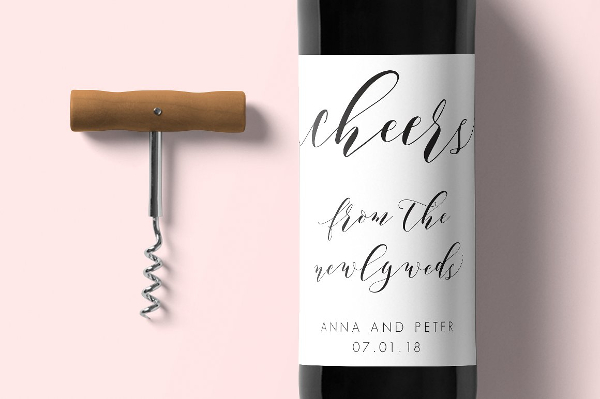 Royal Wine Label Template