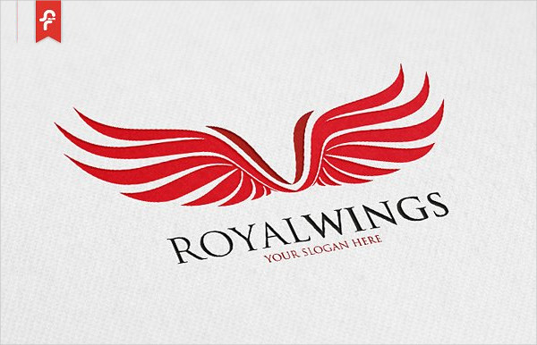 Royal Wings Airline Logo Template