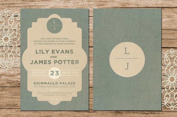 Rustic Wedding Card Template